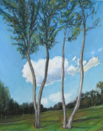 Dancing trees pastel